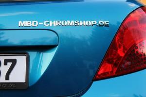 3D Autoaufkleber, Chrombuchstaben & Firmenlogo-Herstellung individuell